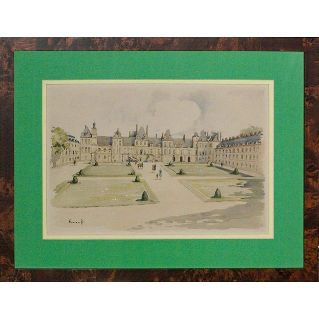 Palais Gardens, Watercolor Painting For Sale