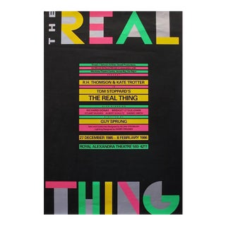 1986 Original Poster for 'The Real Thing' Play