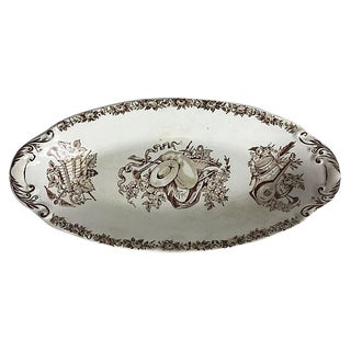French Transferware Pickle Dish For Sale