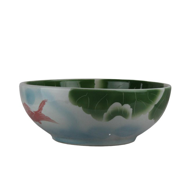 2010s Pasargad DC Modern Multi-Color Motif Sink Bowl For Sale - Image 5 of 6