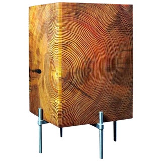 AKMD Southern Yellow Pine Table Translucent Lamp For Sale