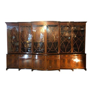 Georgian Schmieg & Kotzian Custom Bow Bookcase Cabinet