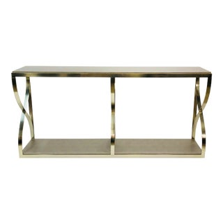 Contemporary Bronze Console Table