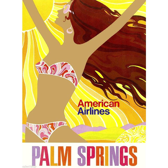Matted & Framed Palm Springs Travel Poster - Image 2 of 2