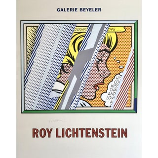 Roy Lichtenstein 'Reflections on Girl' 1990 Hand Signed Original Pop Art Poster For Sale