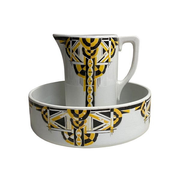 Art Deco Pitcher and Bowl - a Set For Sale - Image 11 of 12