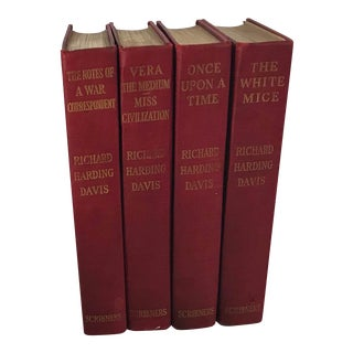 1910 Red Spine Books - Set of 4 For Sale