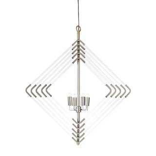 Modern 5 Layer Nickel Spiral Acrylic Diamond Chandelier For Sale