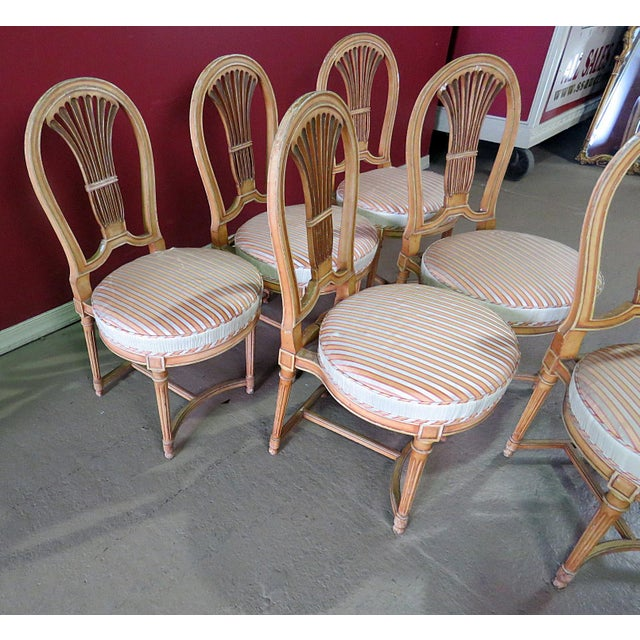 Wood Louis XV Style Dining Side Chairs - Set of 6 For Sale - Image 7 of 10