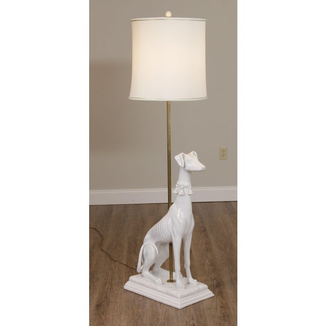 High Quality Vintage Italian Pottery Dog Statue Mounted as a Floor Lamp Store Item#: 24068
