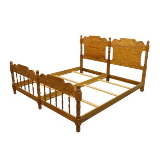 20th Century French Country Pulaski Furniture Keepsakes Collection King Size Bedframe For Sale