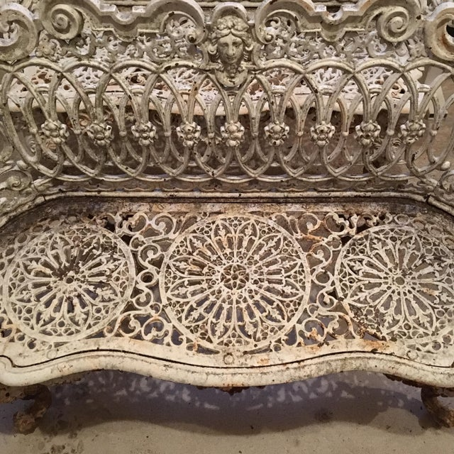 American Victorian Cast Iron Garden Benches - A Pair - Image 6 of 11