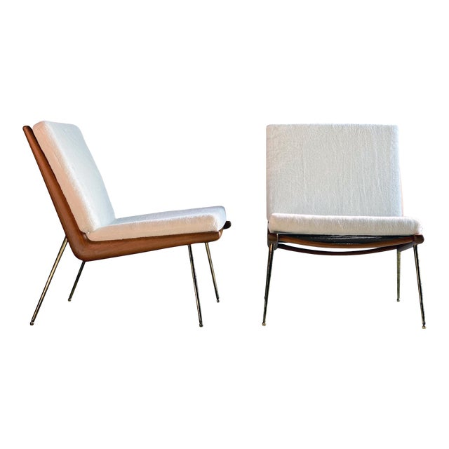 Boomerang Chairs France & Son Peter Hvidt & Orla Mølgaard Nielsen, 1950s - A Pair For Sale