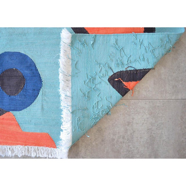 Paul Klee - Silence of the Angel - Inspired Silk Hand Woven Area - Wall Rug 4′6″ × 5′7″ For Sale - Image 9 of 11