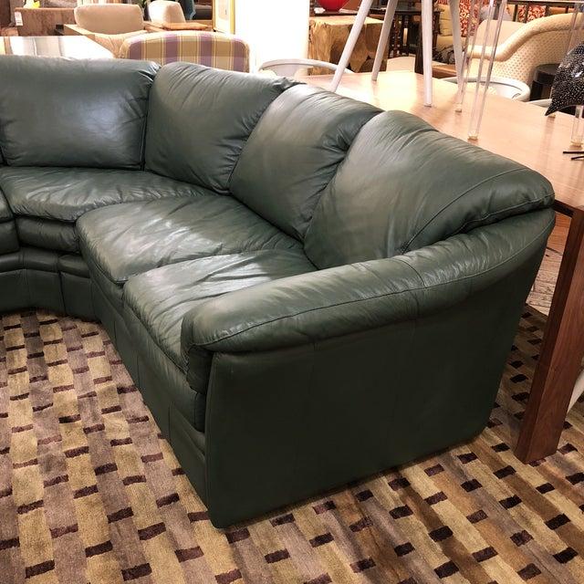 Scandinavian Design Montebello Sectional Sofa in Dark Green Leather ...