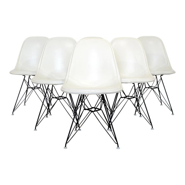 Mid Century Modern Eames Herman Miller Eiffel Tower Dkr Side Chairs 60s - Set of 6 For Sale
