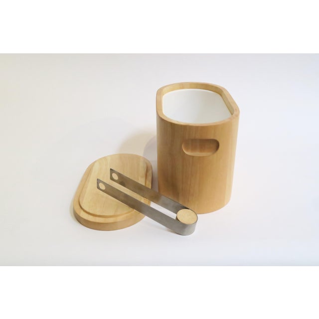 Modern Wooden Ice Bucket For Sale - Image 4 of 5