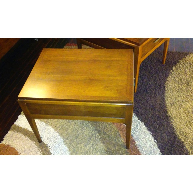Lane Mid-Century Single Drawer End Tables - A Pair - Image 5 of 10