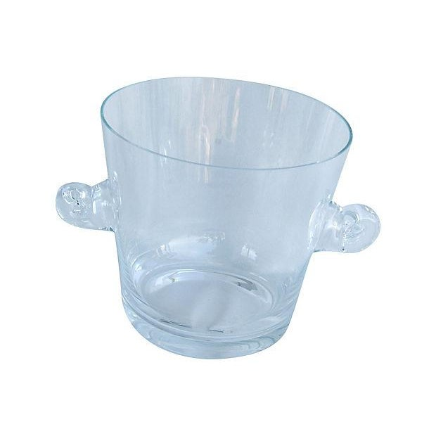 Tiffany Co. Glass Champagne Wine Chiller Bucket - Image 2 of 7