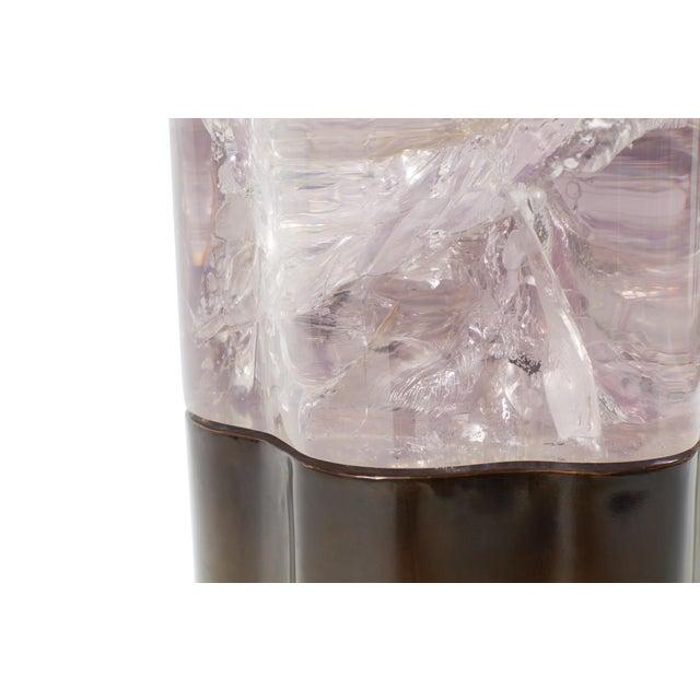 "2010s ""Rytel Side Table,"" Amethyst Resin & Antique Bronze, Sylvan Sf For Sale - Image 5 of 6"