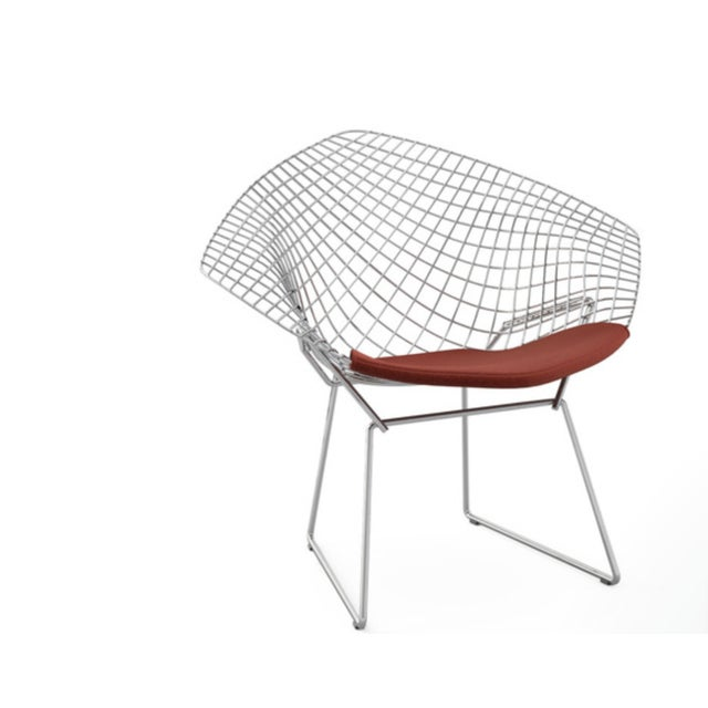 Bertoia Diamond Lounge Chair Designed by Harry Bertoia for Knoll® For Sale In Boston - Image 6 of 6