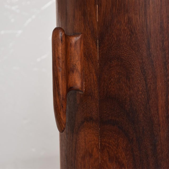 Mid-Century Modern Rosewood Ice Bucket For Sale - Image 9 of 11