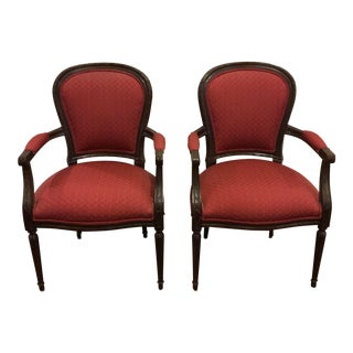 Modern Ethan Allen Claudette Chair Pair For Sale
