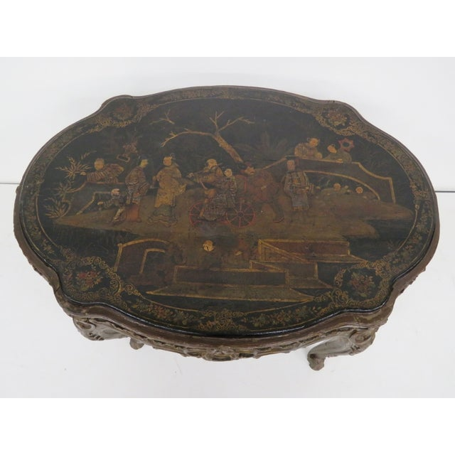Carved Chinoiserie Decorated Coffee Table - Image 4 of 10