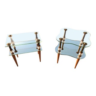 Mid-Century Modern Accent Tables Inspired by Gilbert Rhode - a Set For Sale
