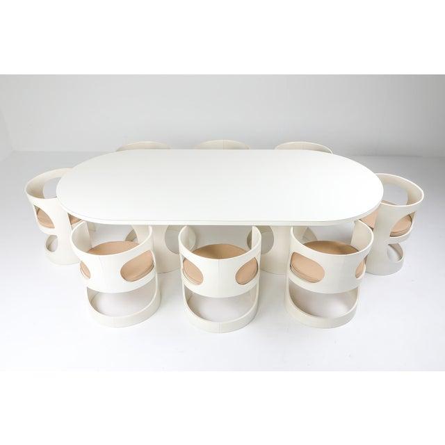 Mid-Century Modern Arne Jacobsen Pre Pop Dining Set for Asko - 1969 For Sale - Image 3 of 12