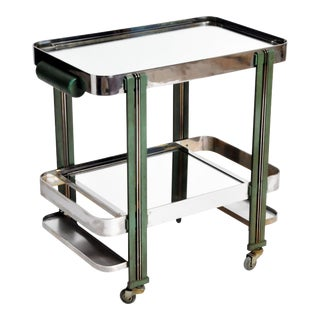 1940s Art Deco Modern Bar Cart For Sale