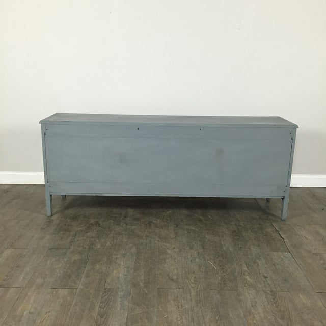 Vintage Gray-Blue Credenza - Image 10 of 11