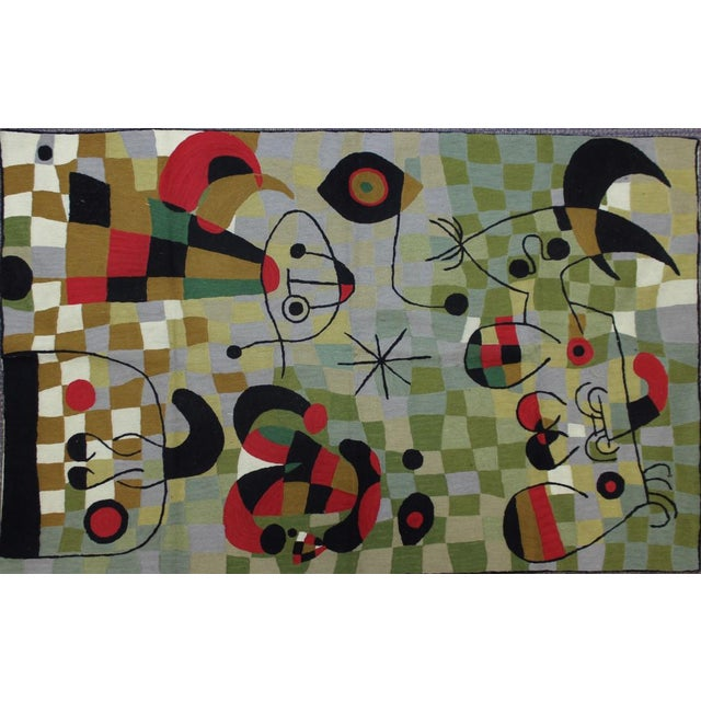 """Cubist Hand-Stitched Wool 'Cubist' Rug -- 3' X 4'10"""" For Sale"""