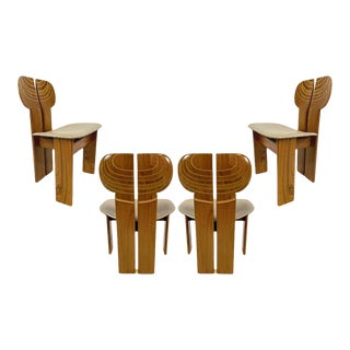 Afra & Tobia Scarpa Artona Series 'Africa' Chairs Produced, Maxalto 4 Available- Priced Per Chair For Sale