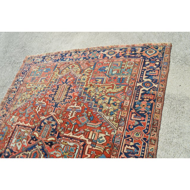"Antique Persian Heriz Rug - 7'7"" X 10'11"" - Image 5 of 8"