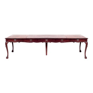 English Chippendale Mahogany Conference Table For Sale
