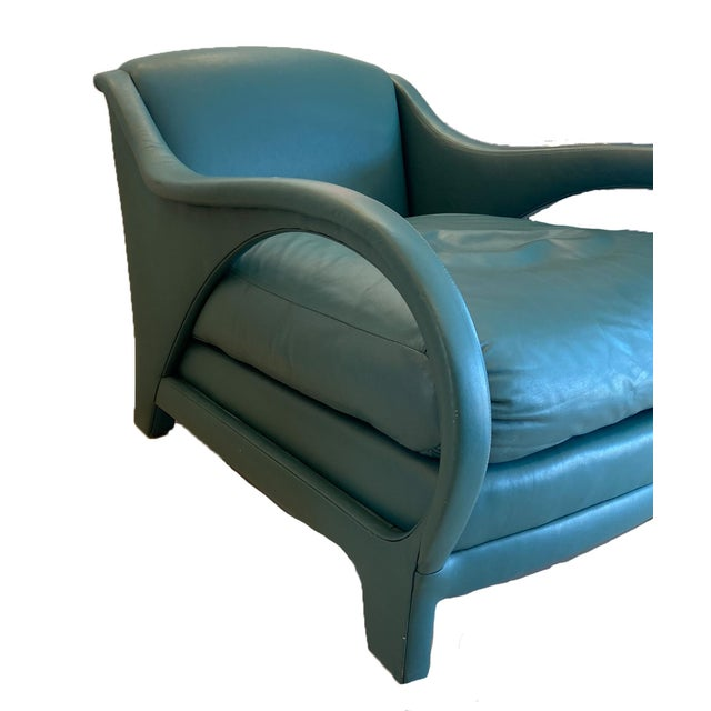 Mid-Century Modern Jay Spectre Tycoon Leather Lounge Chairs- a Pair For Sale - Image 3 of 8