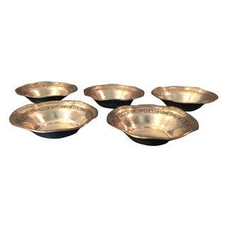Webster Sterling Nut Dishes - Set of 5 For Sale