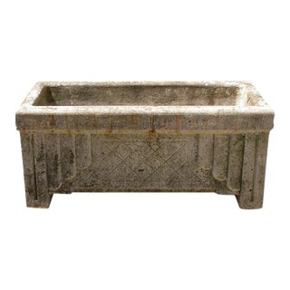 Art Deco Style Cement Planter For Sale