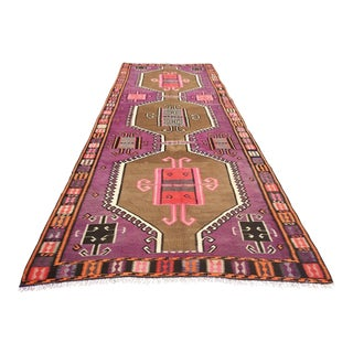 Vintage Purple Kilim Rug For Sale