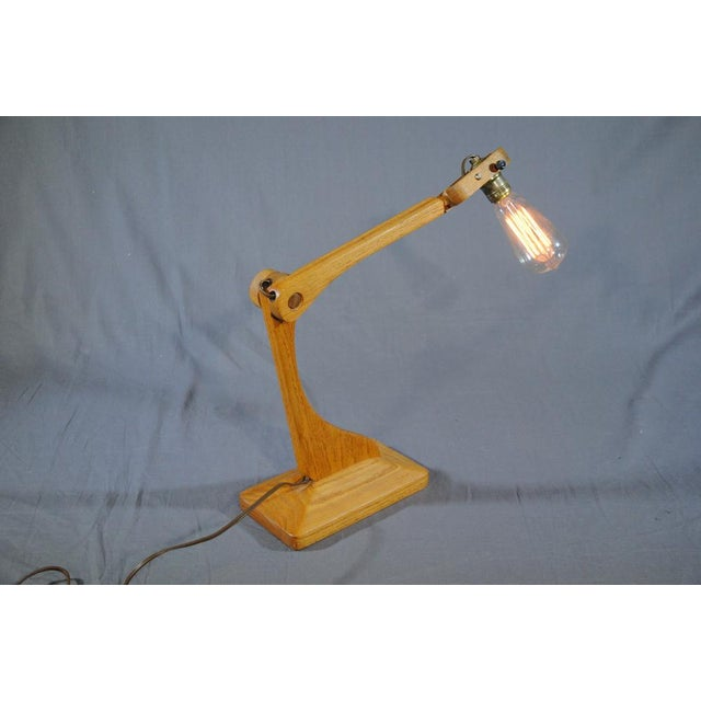 1960s Vintage Industrial Style Articulated Natural Desk Lamp For Sale - Image 9 of 10