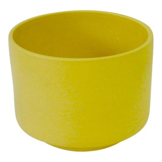 Large California Modern Yellow Planter Pot by Gainey For Sale