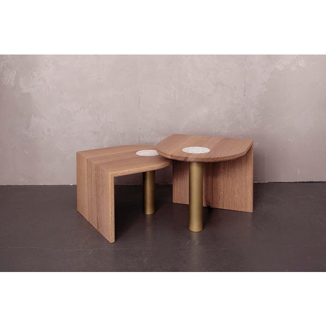 Contemporary Volk St. Charles Occasional Tables Offset Heights-A Pair For Sale - Image 3 of 3