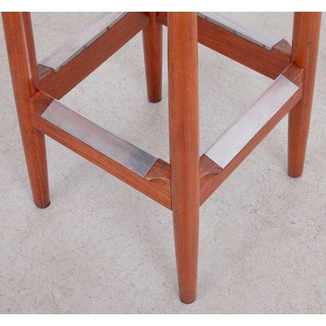 1960s Pair of Arne Vodder Teak Bar Stools for Sibast Furniture For Sale - Image 5 of 9