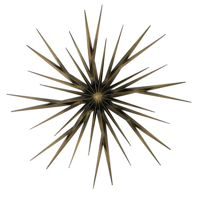 Curtis Jere Patinated Brass Branching Starburst Wall Sculpture, 1981 For Sale - Image 11 of 11