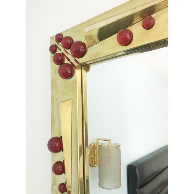 2010s Rubino Brass Mirror by Fabio Ltd For Sale - Image 5 of 10