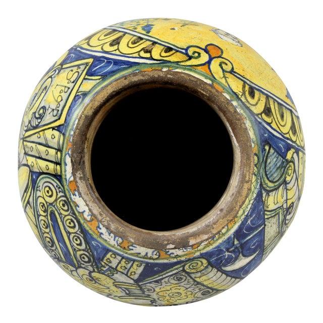 Yellow Roman Majolica Pot For Sale - Image 8 of 10