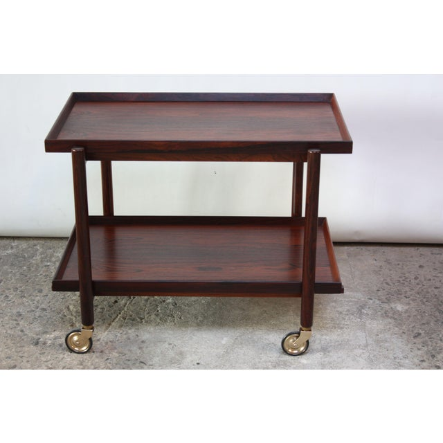 Poul Hundevad Rosewood Modular Bar Cart For Sale In New York - Image 6 of 13