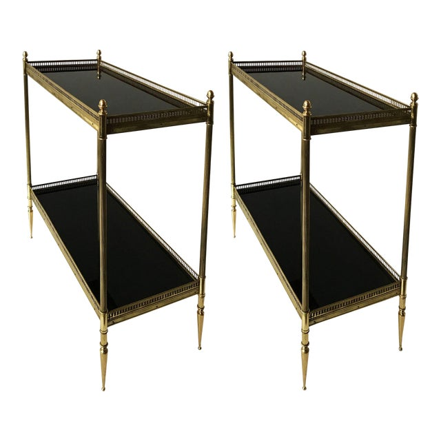 Vintage Maison Jansen Side Tables - A Pair For Sale