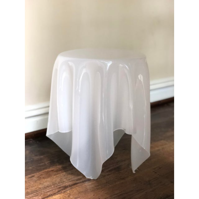 Acrylic Handkerchief Table For Sale - Image 12 of 13